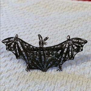 Jewelry - Vintage Sterling Bat Pin Brooch
